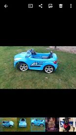 Childs electric car with remote control