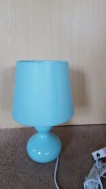 AQUA BLUE TABLE LAMP - BRAND NEW
