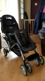 Graco double seater pushchair