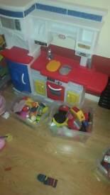Little Tikes Play Kitchen Kids Childrens Toy Kettle Toaster Coffee Machine Accessories