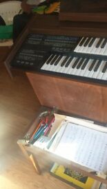 Elka C92 Electronic organ, with stool ,lots of music books, and playing instructions
