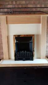 Electric Fire with Mantel and Hearth
