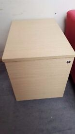 Two Drawer Wooden Filing cabinet with Key