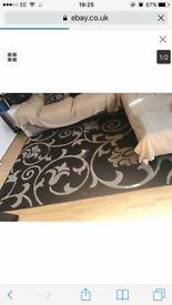 Large Brown and beige rug