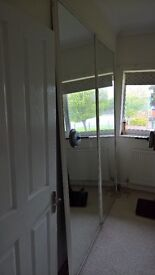 2 Large Mirrors (Mirrored Sliding Wardrobe Doors)
