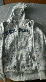 Girls zip up jacket age 9-10 years