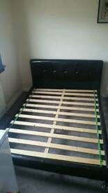 REDUCED PRICE!!! DOUBLE LEATHER BED