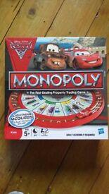 Disney pixar cars 2 monopoly game