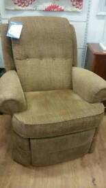 Brown reclining arm chair G Plan