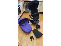 Quinny Buzz Xtra with Carrycot , Maxi Cosi adapters and rain cover