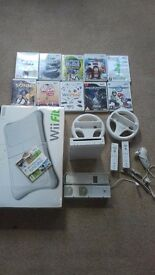 Nintendo Wii and Wii fit. 10 games.