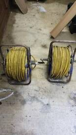 2 12mm reach and wash hoses and reels 100mtr