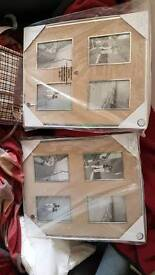 Beige and silver photo frames brand new