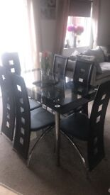 X6 seater table and chairs