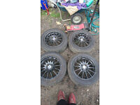 ford 4 stud alloy wheels new tyres