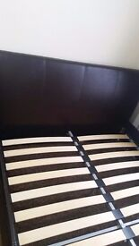 Double bed+wardrobe+bedside table