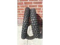 Two Continental Twinduro Motocross/Greenlane Tyres - Like New Bargain at £23 - Great For On/Off Road