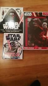 Star Wars book & jigsaw bundle