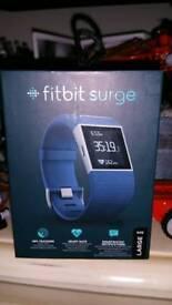 Fit bit surge (blue) large