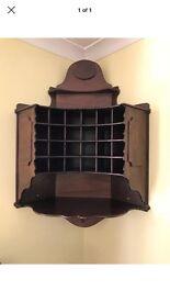Dark Wood Wine Rack Corner Unit