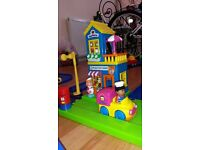Early Learning Centre - Happy Land complete set with Train , Track, Buildings and Road