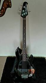 Sterling Ray 34 Fretless Bass Guitar