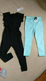 Age 6-7 bundle all new swimming shorts tshirt jumpsuit trousers