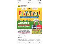 3x playfestival tickets