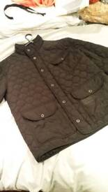 Mens XL firetrap quilted black jacket im very good condition