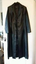 Women's long genuine leather Milan coat