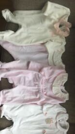 Baby girl newborn velour outfits
