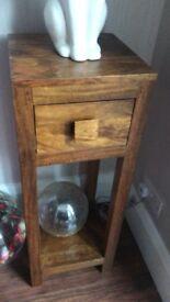 Mango wood lamp tables x2