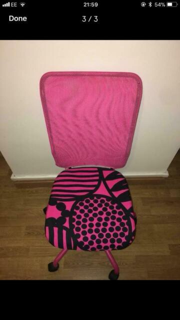 Swell Pink Ikea Desk Chair In Tottenham London Gumtree Evergreenethics Interior Chair Design Evergreenethicsorg