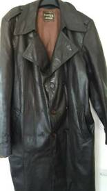 Echtes Leder Men retro leather Coat