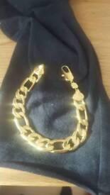 24k gold filled bracelet