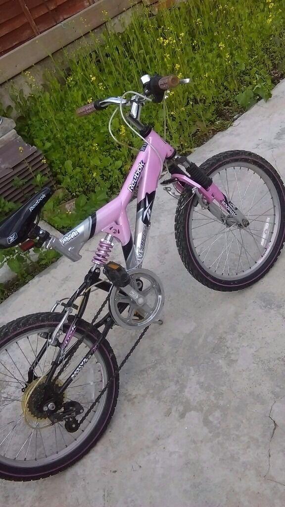 """Girls 20"""" reebok bike"""