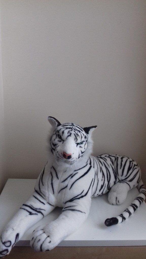 Large Cuddly White Siberian Tiger