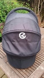 Oyster carrycot for baby (black/grey)