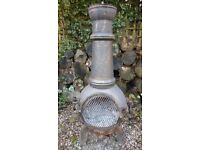 Large Cast Iron Chiminea for garden or patio