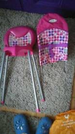 Graco baby doll high chair and bouncer