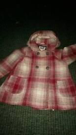Girls coats size 2_3 18 24 mths