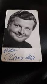 Signed photo of Benny Hill.
