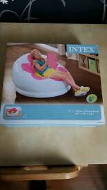 Girls inflatable blossom chair