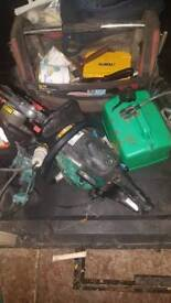 Makita sds Chainsaw and makita 110 drill and 240 drill