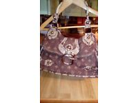 Guess brown and beige guess ladies handbag perfect condition