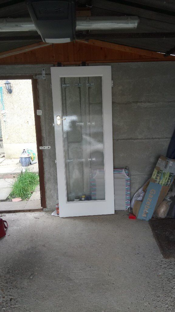Glazed Internal Wooden Door White