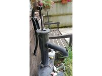 VINTAGE HAND OPERATED CAST IRON WATER PUMP