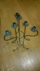 Candle holder stand wrought iron