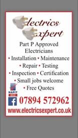 Part P NAPIT Approved Electricians : Free Quotes : Fully Insured