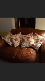 Laura ashley leather two seat sofa